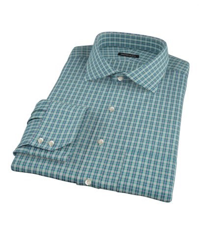 Veridian Green Oxford Plaid Custom Dress Shirt