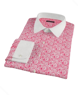 Canclini Red Paisley Print Fitted Shirt
