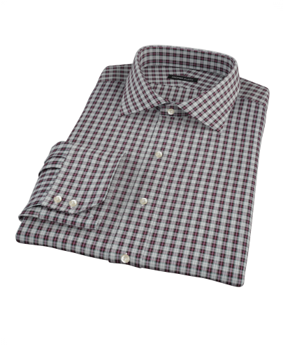 Sullivan Maroon Plaid Men's Dress Shirt