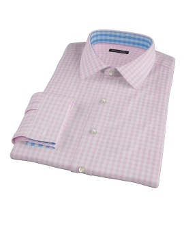 Medium Pink Gingham Dress Shirt
