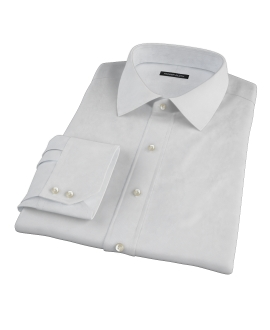 Canclini White Imperial Basketweave Fitted Dress Shirt