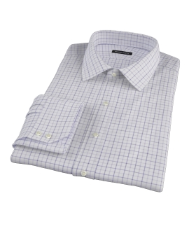 Canclini Lavender Multi Grid Men's Dress Shirt