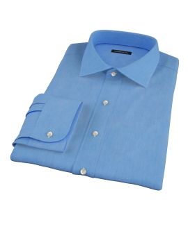 French Blue 100s Twill Men's Dress Shirt