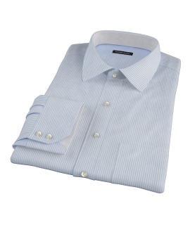 Thomas Mason Light Blue Stripe Men's Dress Shirt