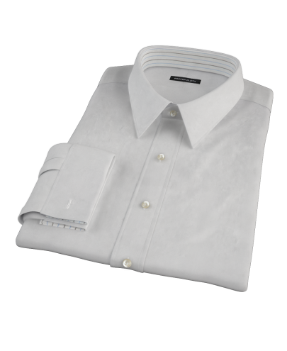 Light Gray Broadcloth Custom Dress Shirt