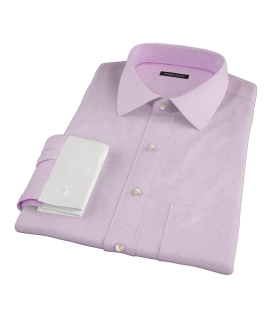 Pink Carmine Mini Check Men's Dress Shirt