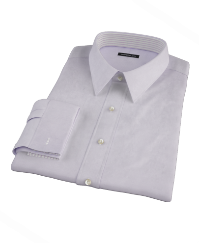 Thomas Mason Lavender Fine Twill Custom Dress Shirt