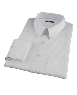 Bowery Light Grey Pinpoint Tailor Made Shirt