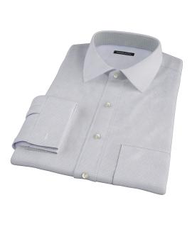 Albini Blue and Brown Mini Tattersall Custom Made Shirt
