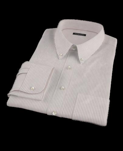 Burgundy Stripe Heavy Oxford Cloth Custom Dress Shirt