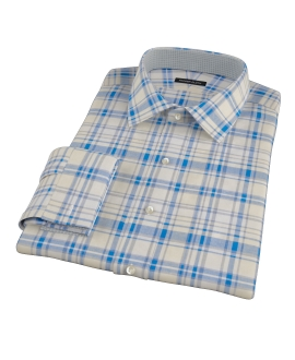 Yellow and Blue Organic Madras Men's Dress Shirt