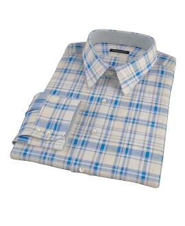 Yellow and Blue Organic Madras Custom Made Shirt