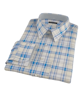 Yellow and Blue Organic Madras Custom Dress Shirt