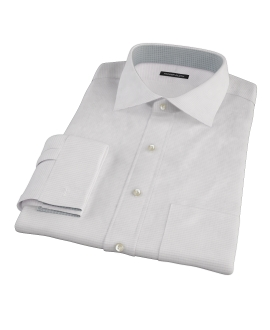 140s Lavender Wrinkle Resistant Grid Fitted Shirt
