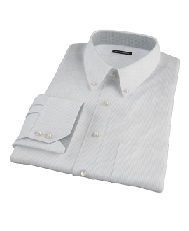 140s Light Blue Wrinkle Resistant Fine Stripe Dress Shirt
