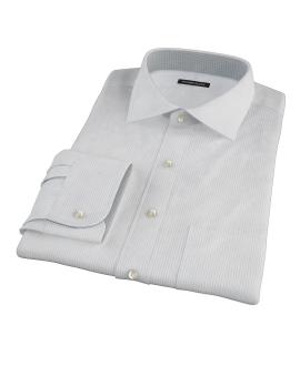 140s Light Blue Wrinkle Resistant Fine Stripe Custom Dress Shirt