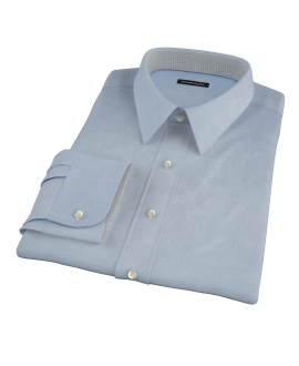 Sky Blue Wrinkle Resistant Cavalry Twill Tailor Made Shirt
