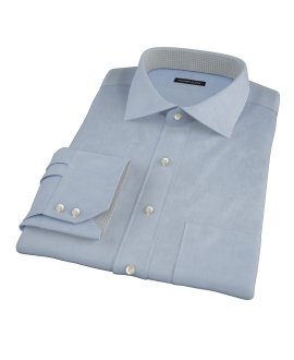 Sky Blue Wrinkle Resistant Cavalry Twill Fitted Shirt