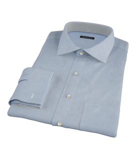 Sky Blue Wrinkle Resistant Cavalry Twill Men's Dress Shirt