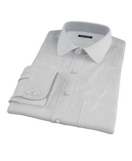 Lavender and Black Fine Satin Stripe Men's Dress Shirt