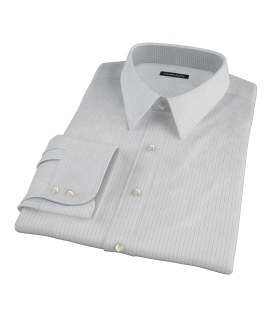 Lavender and Black Fine Satin Stripe Dress Shirt