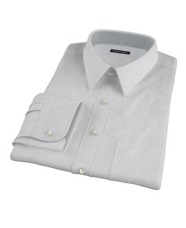 Lavender and Black Fine Satin Stripe Custom Made Shirt