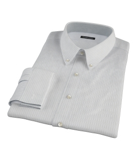 Lavender and Black Fine Satin Stripe Tailor Made Shirt
