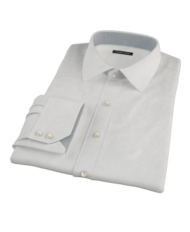 Ecru 100s Twill Fitted Dress Shirt