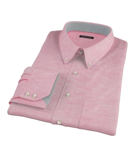 Hibiscus Cotton Linen Oxford Men's Dress Shirt