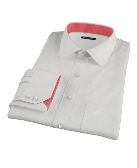 Ecru 100s Twill Tailor Made Shirt