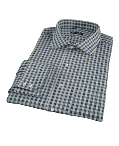 Sullivan Turquoise Plaid Custom Dress Shirt