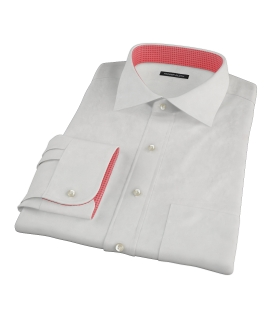 Ecru 100s Twill Men's Dress Shirt