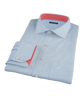 Light Blue Carmine Mini Check Tailor Made Shirt