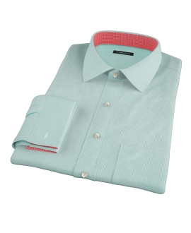Mint Green Carmine Mini Check Men's Dress Shirt