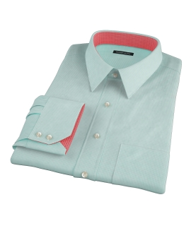 Carmine Mint Green Mini Check Custom Made Shirt