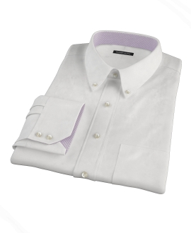 Natural White Cotton Linen Dress Shirt