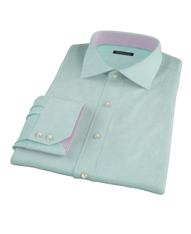Mint Green Carmine Mini Check Custom Dress Shirt