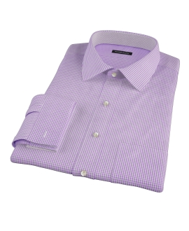 Lavender Carmine Mini Check Custom Made Shirt