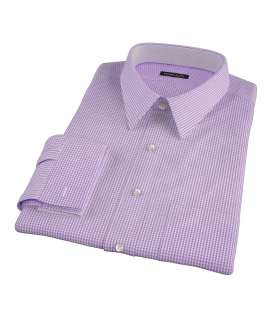 Lavender Carmine Mini Check Tailor Made Shirt