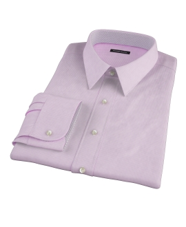 Pink Carmine Mini Check Fitted Shirt