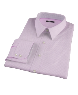 Pink Carmine Mini Check Custom Made Shirt