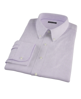 Canclini Lavender Multi-Check Dress Shirt
