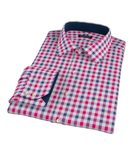 Red and Navy Large Gingham Tailor Made Shirt