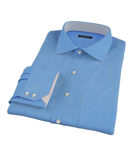 French Blue 100s Twill Custom Dress Shirt
