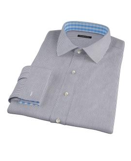 Black Carmine Stripe Fitted Dress Shirt