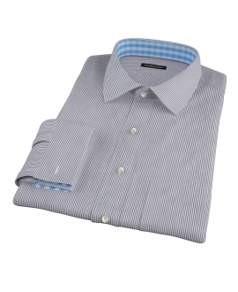 Black Carmine Stripe Men's Dress Shirt