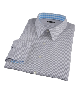 Black Carmine Stripe Dress Shirt