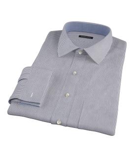 Black Carmine Stripe Fitted Shirt