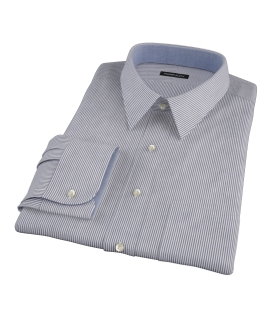 Black Carmine Stripe Tailor Made Shirt