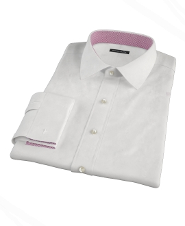 White Wrinkle Resistant 80s Broadcloth Custom Made Shirt